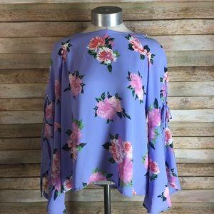 Brand New Purple Floral Blouse